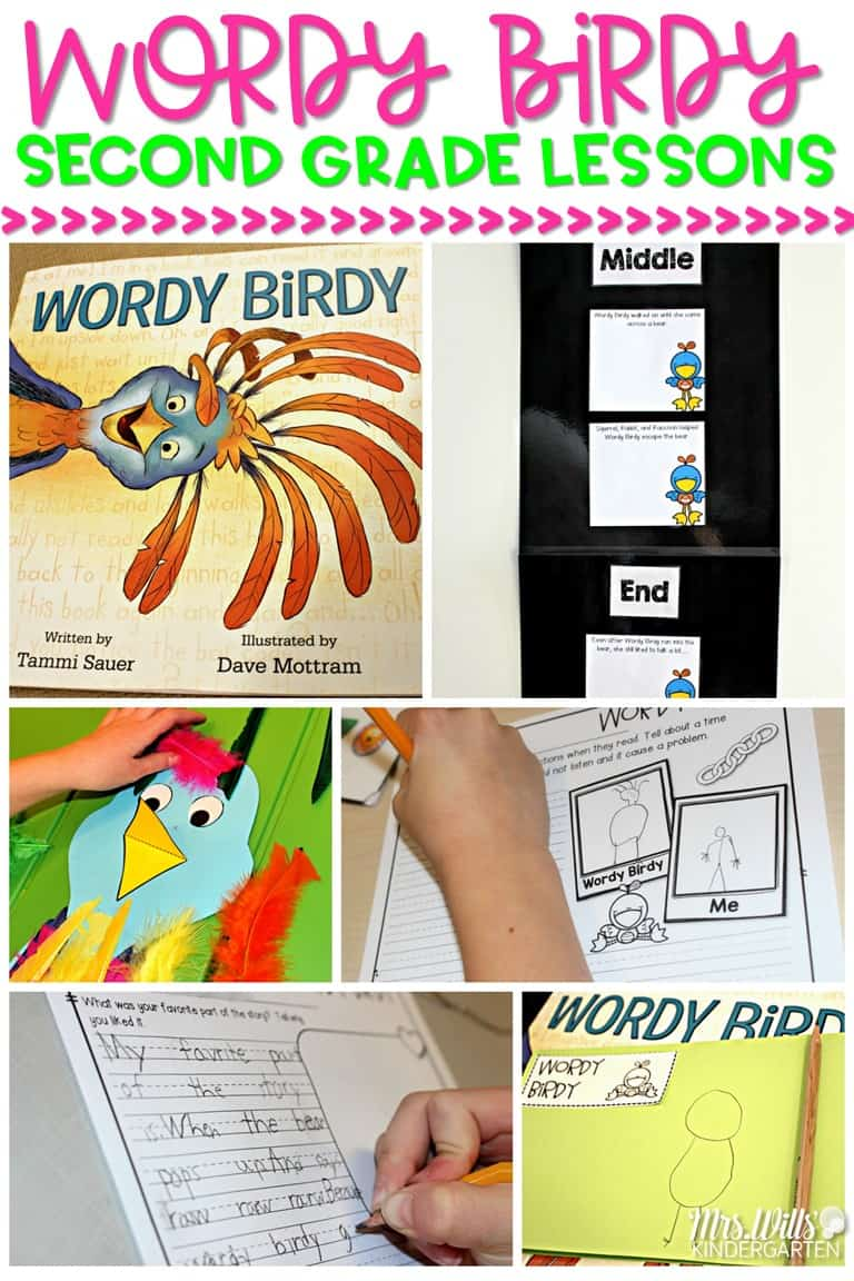 Second grade reading comprehension lessons for Wordy Birdy. These 2nd grade ideas for a close read are easy to prepare. Student writing response pages and discussion stems are included.