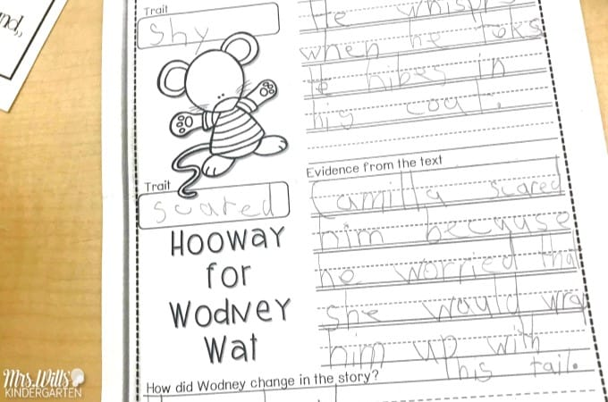 Hooway for Wodney Wat Lesson Plans and Ideas for kindergarten. Reading, writing, retelling the text, visualizing, and a fun craft for this great book by Helen Lester. A FREE math center activity for February too!
