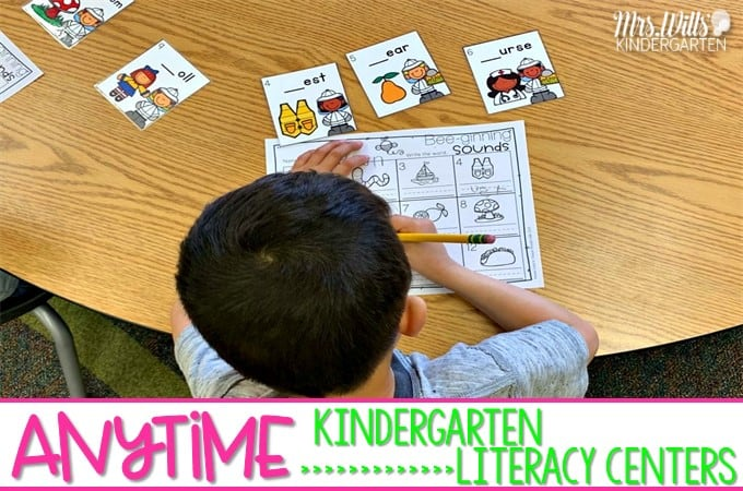 photo about Printable Literacy Centers First Grade called Kindergarten Literacy Stations Products