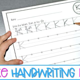 Fun and easy handwriting practice for kindergarten and first grade. Develop fine motor skills and provide handwriting support with Firesara Pencil Grips.