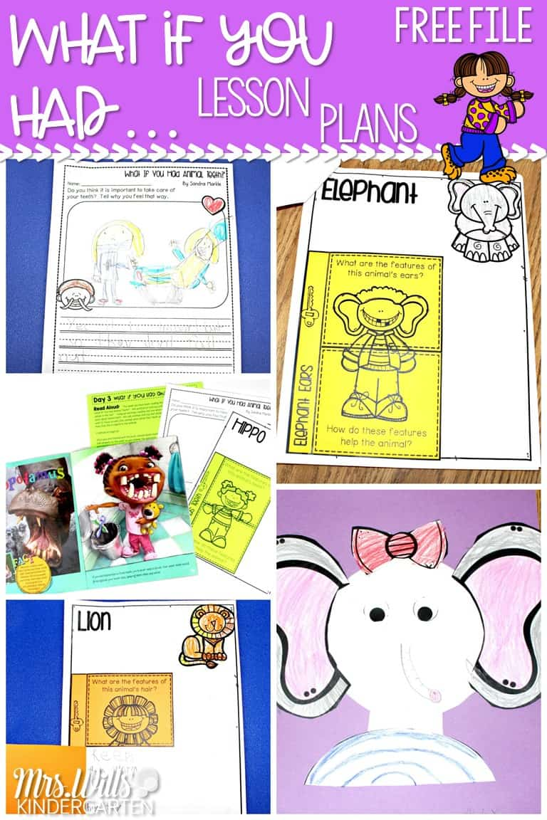 """Animal lesson plans for kindergarten and 1st grade with a free file! Close reading lesson plans to learn about animal adaptations using the """"What if you had Animal..."""" book series."""