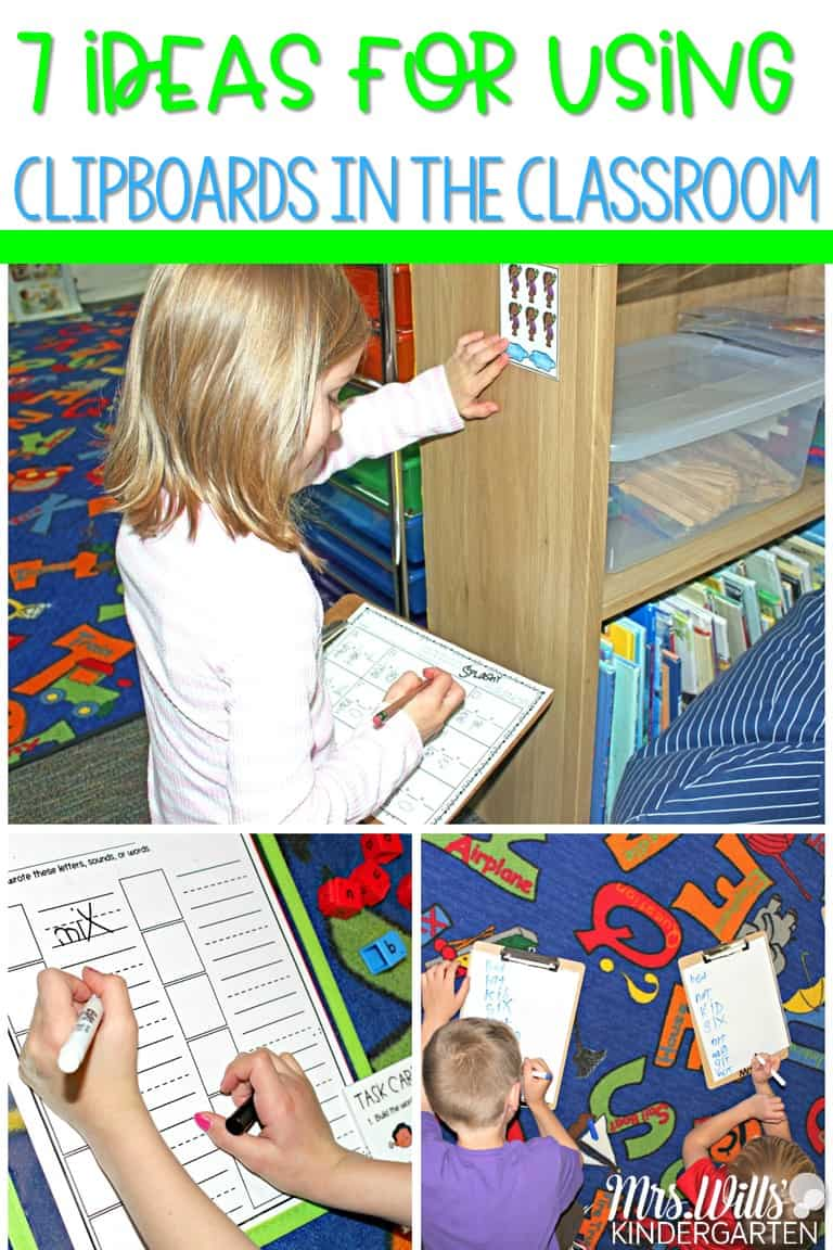 Clipboards in the classroom can be a fun tool for students to use throughout their day. Check out these great ideas on how to use clipboards in your classroom. #clipboardsintheclassroom