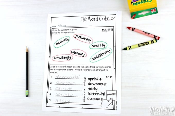 Vocabulary instruction. Quick and easy lesson plans to teach vocabulary through authentic texts for kindergarten, first, and second grade. Students develop reading comprehension and vocabulary knowledge with these engaging activities.
