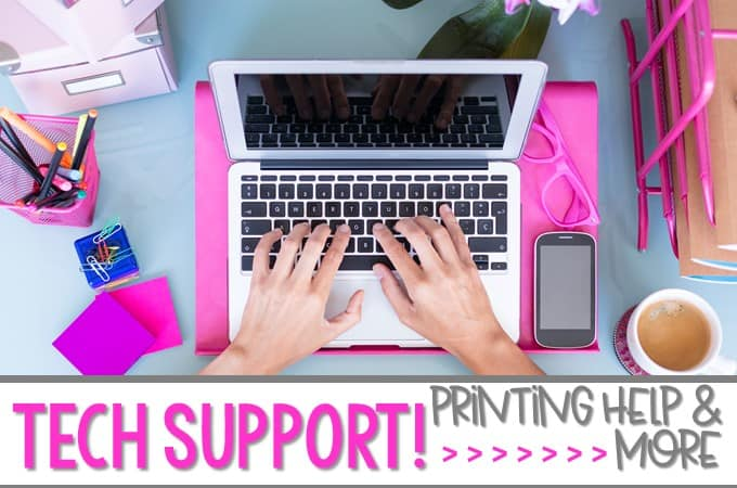 Technical Troubleshooting Tutorials for Teachers who use TpT. Printing problems, how to unzip files, how to use editable fields, and how to make visual lesson plans. Why do I have a black box when I print? Yes! I will help you fix that problem too! Here are my tips and video support!