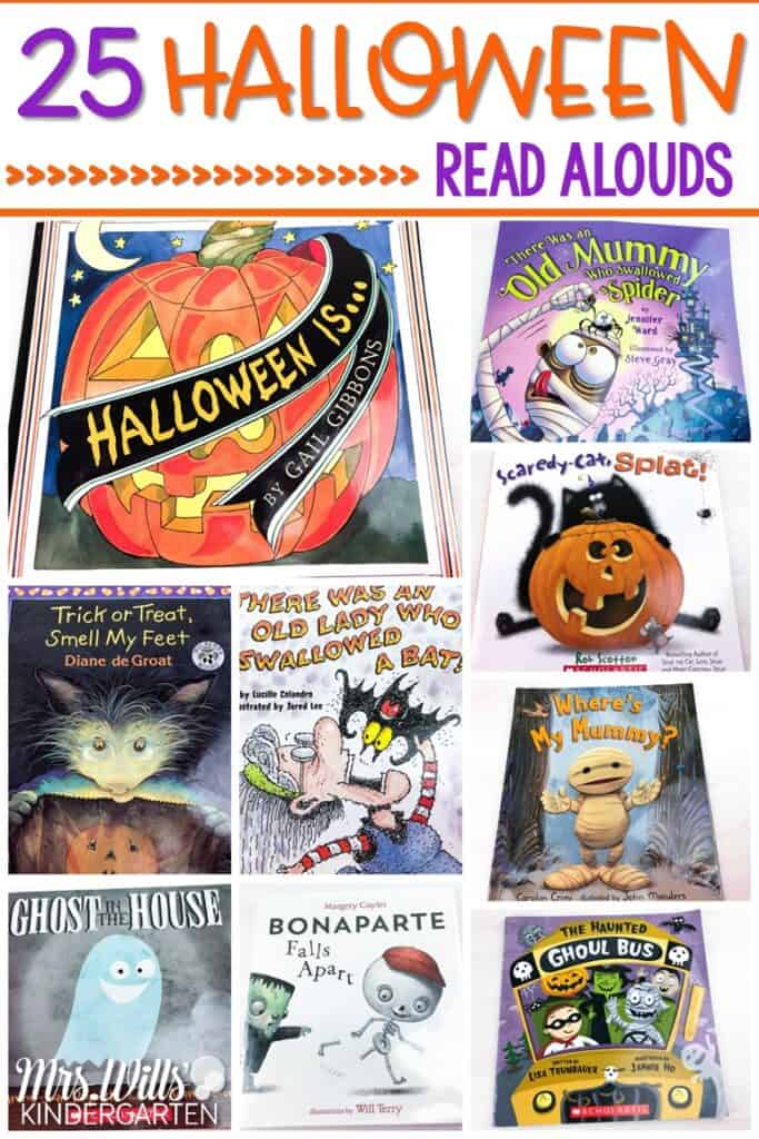 Halloween Read Alouds for kindergarten, first, and second grade. These are some of my favorite books to read during the month of October in celebration of Halloween! #halloweenreadalouds #booksforhalloween #halloweenbooks