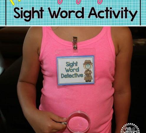 Hidden Sight Words and a Freebie!