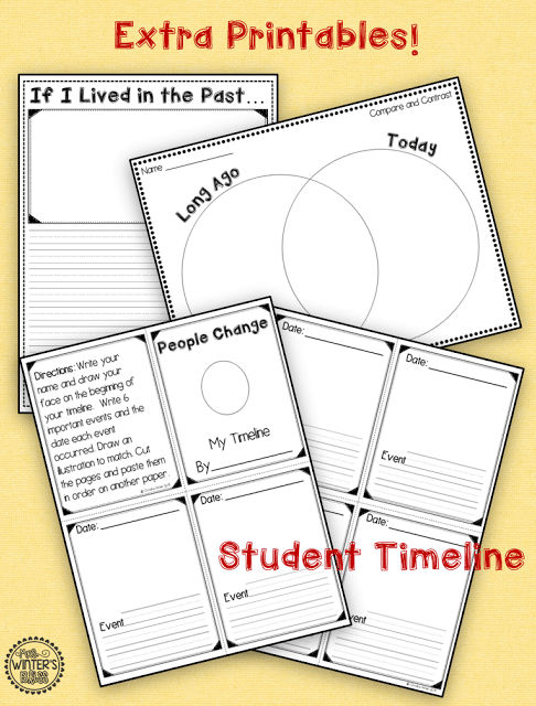 long ago and today worksheets