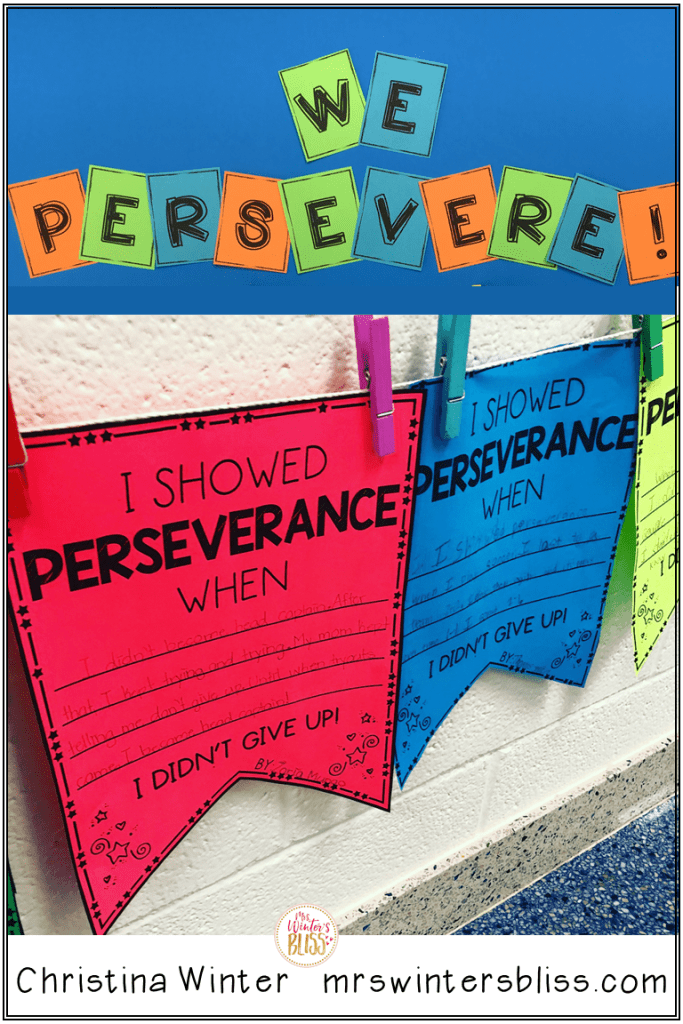 growth mindset perseverance activity
