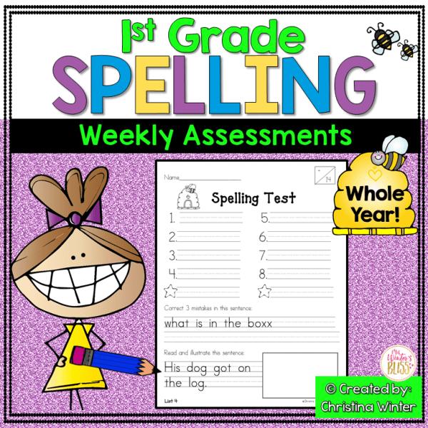 1st grade spelling assessments