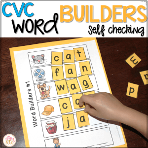 CVC word building activities