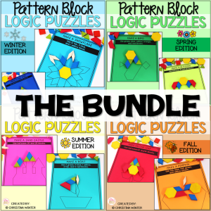 Logic Puzzles Math Pattern Blocks