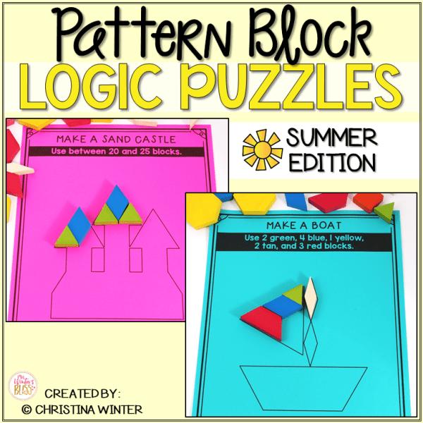 Logic Puzzles Math Pattern Blocks