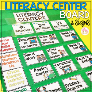 literacy center rotation chart