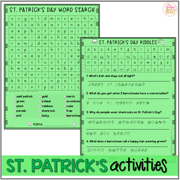 st patrick's day activities for kids