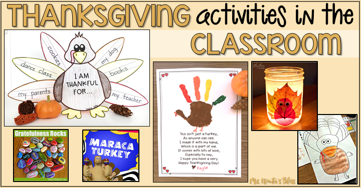 thanksgiving classroom ideas
