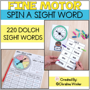 fine motor sight word activities