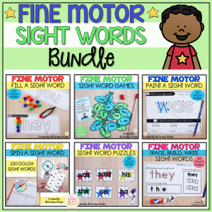 fine motor sight word