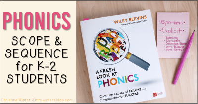 Phonics scope and sequence k-2