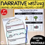 Narrative Writing Prompts And Graphic Organizers Printable Digital 1st Grade Mrs Winter S Bliss