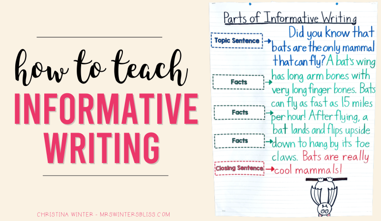 How to Teach Informative Writing