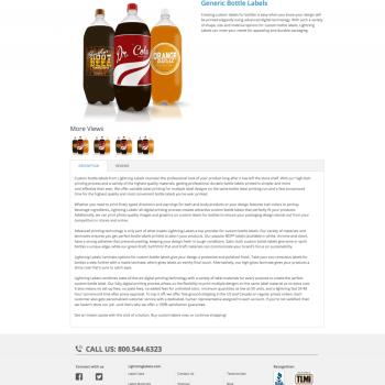 Lightning Labels' Custom Bottle Labels Product Page