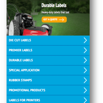 Discount Labels' Mobile Responsive Redesign