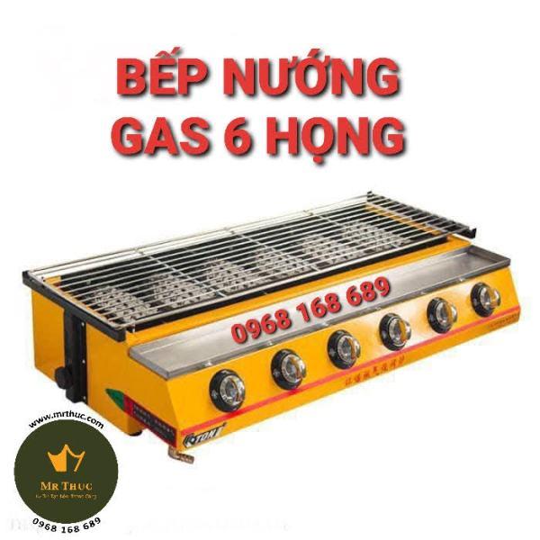 bếp nướng bằng gas 6 họng eton k233