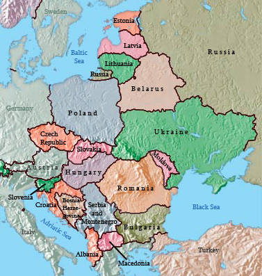 Mr  Tozer   Eastern Europe Countries and Capitals Study Page Below is a blank map of Europe  Below that is a blank map of just Eastern  Europe  I think it is better to get to know all of Europe