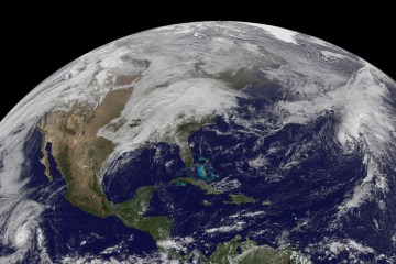 Earthly view of the US from space