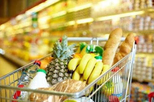 cart full of groceries