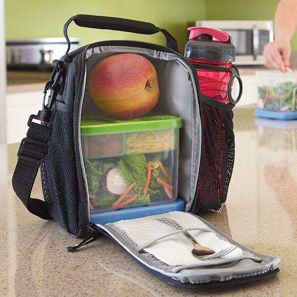 Lunch box packed with food