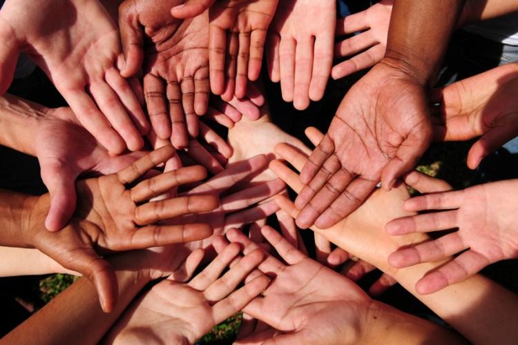 diverse set of hands