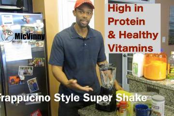 Frappuccino Style High Protein Healthy Super Shake from MicVinny