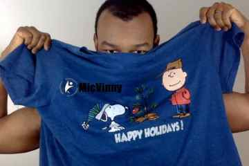 Happy Holidays T-shirt with Snoopy and Charlie Brown from MicVinny