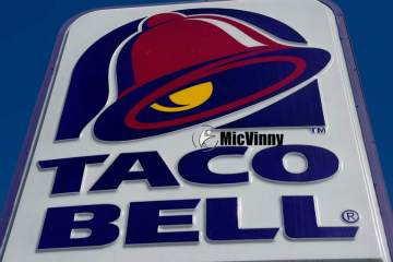 Taco Bell registered logo from Taco Bell restaurant