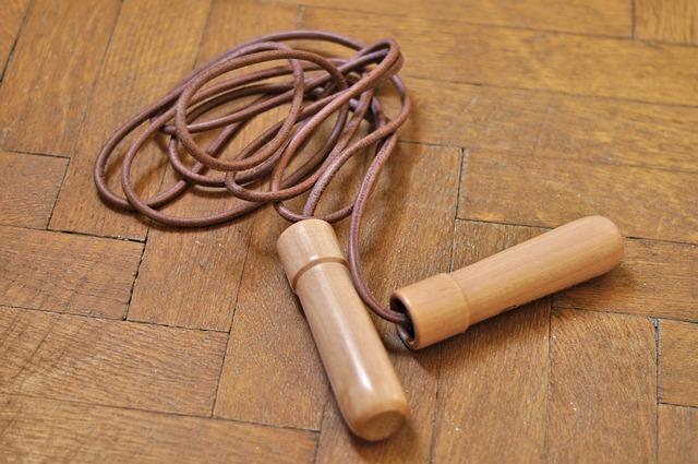 Jump rope on the floor