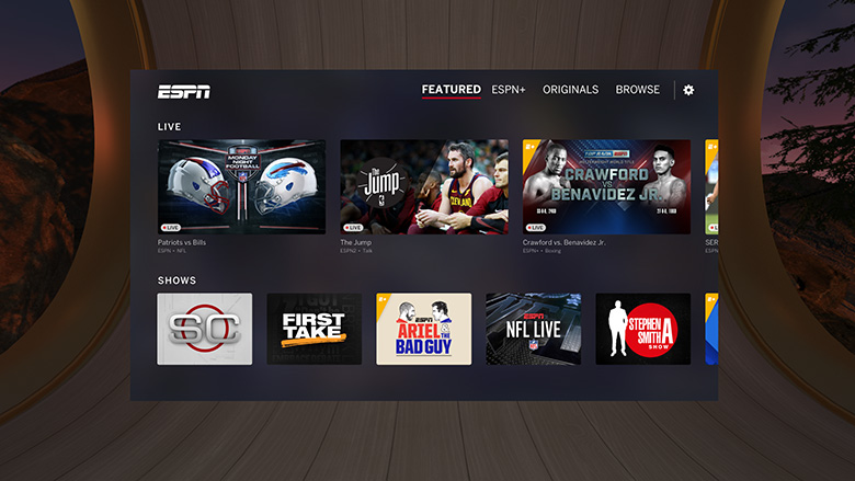 Sling TV, ESPN and Fox Now Arrive on Oculus Go for US Customers