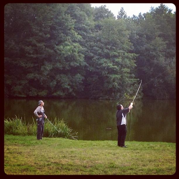 20120922 Fly fishing instruction