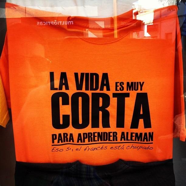 20121215 La Vida Es Muy Corta Para Aprender Aleman