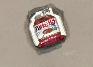 Nutella Sachet (2016) by Robert MADDEN.