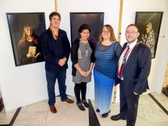 Laurence Gibson, Jasmine McGhee and Jolena Flett (Migration Centre Northern Ireland), and Councillor Gareth McKee (High Sheriff of Belfast)