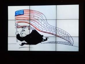 Live cartoon of Donald TRUMP