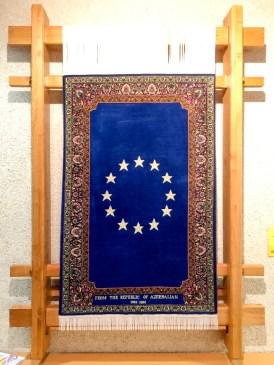 European flag carpet, Gift from the Republic of Azerbaijan