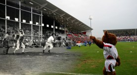 Baseball match played in 1943, with a Pro 12 League match played against Leinster 24th April 2015.
