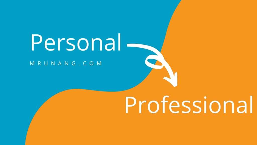 personal to professional blogging