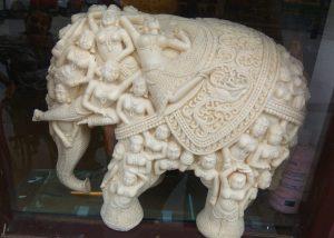 Engraved elephant