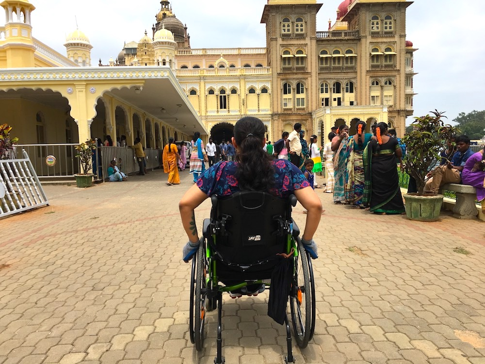 Visiting Mysore (aka Mysuru) Palace in my wheelchair