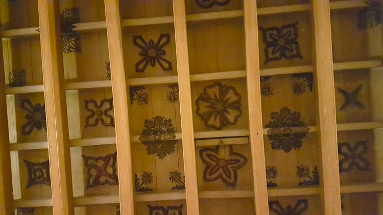 The ballroom ceiling with wooden designs.jpeg