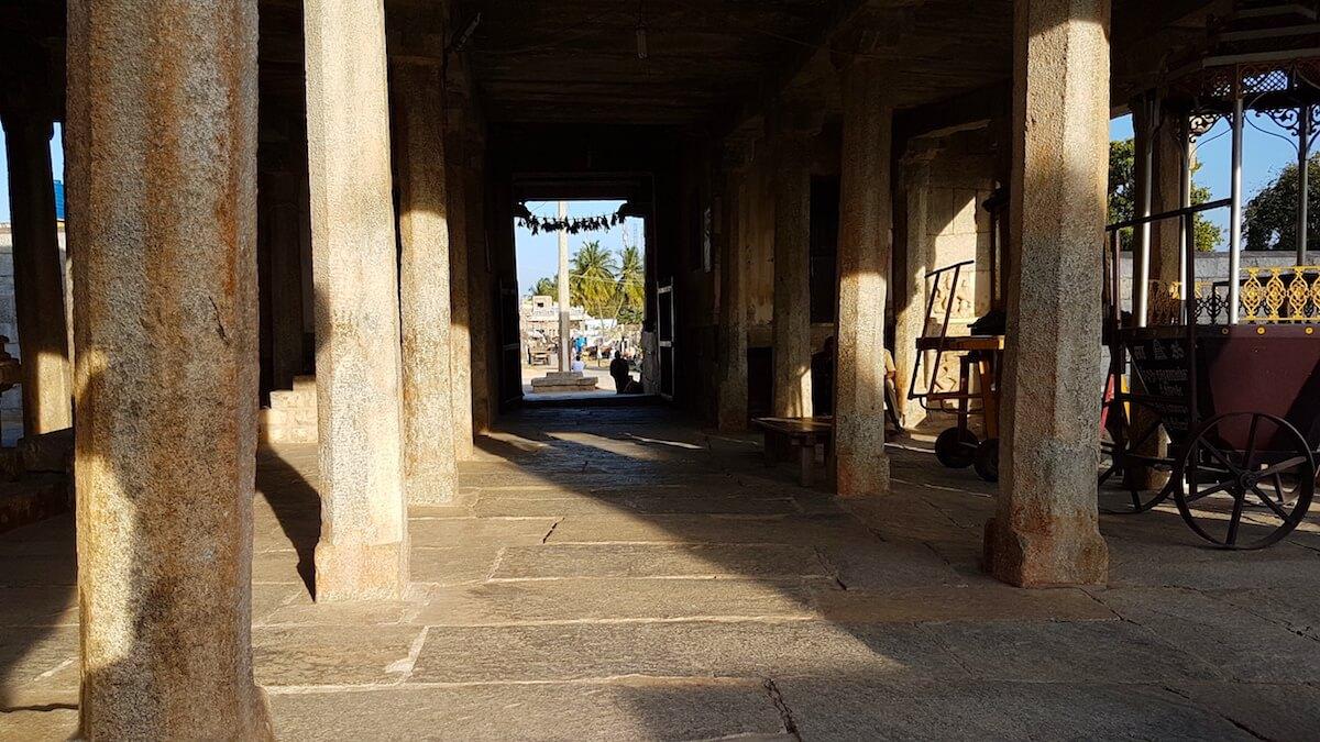 Inside the Ramalingeshwara temple complex