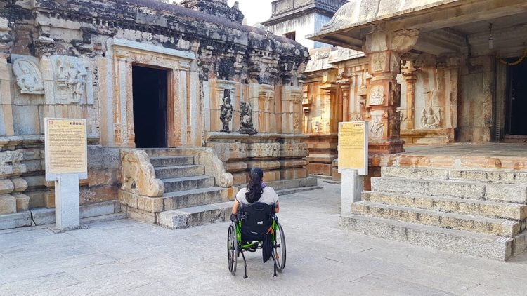 Steps at the entrance of temples make them inaccessible